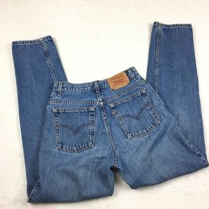 Vtg 90s LEVIS High Waist Jeans 550 Relaxed Tapered